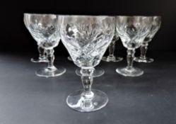 Vintage Royal Brierley Crystal 'Elizabeth' Wine Goblets