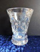 Antique Crystal Vase 19cm Tall