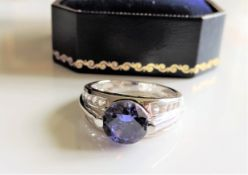 Sterling Silver Sapphire Ring