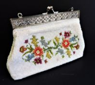 Vintage Beaded & Petit Point Evening Bag