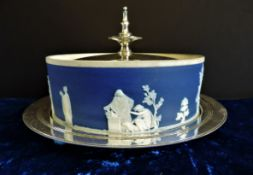 Antique Wedgwood Jasper Ware Butter Dish