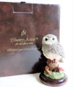 Vintage Country Artists Langford Little Owl Figurine