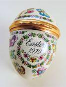 Bilston & Battersea Halcyon Days Enamels Easter Egg 1979