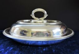 Antique Silver Plate Vegetable Serving Dish/Entree Dish c.1900-1910