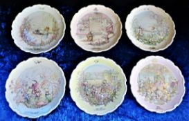 Set 6 Royal Doulton Wind in the Willows Collectors Plate
