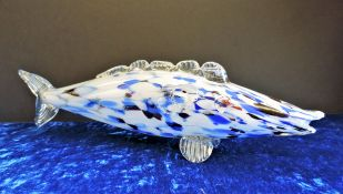Murano End of Day Glass Fish 38cm Long