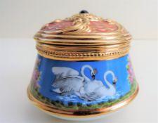 Franklin Mint House of Faberge Swan Lake Musical Trinket Box