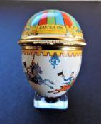 Halcyon Days Enamels Egg Trinket Box Easter 1981