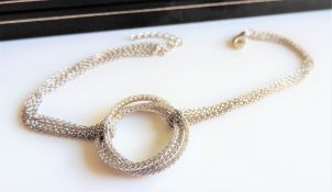 Three Linked Circles Sterling Silver Bracelet
