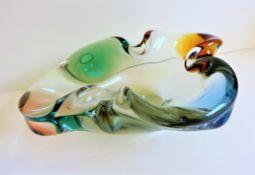 Frantisek Zemek Art Glass Bowl for Mstisov Glassworks