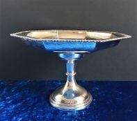 Antique Art Deco Silver Plate Pedestal Cake Stand