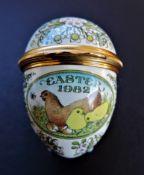 Vintage Halcyon Days Enamels Easter Egg Trinket Box 1982