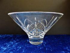 Large Vintage Cut Crystal Bowl 28cm Diameter