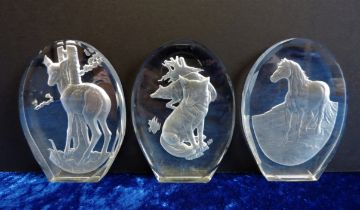Danbury Mint Crystal Sculptures by Phillip Nathan F.R.B.S