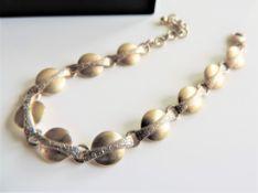 Vintage Sterling Silver Two Tone Bracelet
