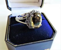 Sterling Silver 6ct Ceylon Chrysoberyl Gemstone Ring