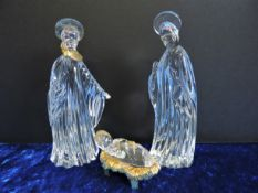 Gorham German Crystal & Gold Nativity Set