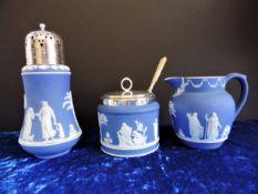 Antique Wedgware Jasper Ware Breakfast Set