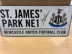 Newcastle Shay Given Hand Signed Street Plaque