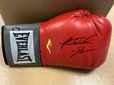 Riddick Bowe Big Daddy Signed Boxing Glove