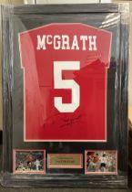 Paul McGrath Signed Framed Shirt