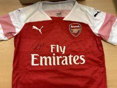 Arsenal Shirt Signed By Pierre Emerick Aubameyang