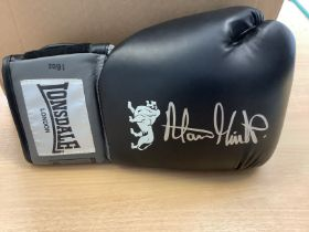 Alan Minter Signed Boxing Glove