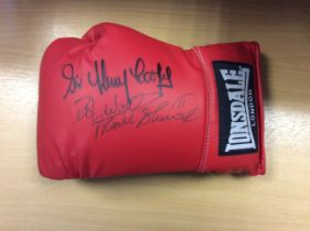 Frank Bruno & Sir Henry Cooper Signed Boxing Glove