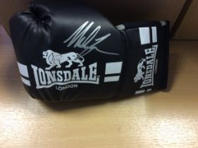 Mike Tyson Signed Lonsdale Boxing Glove