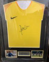 Peter Shilton Signed Frame Shirt