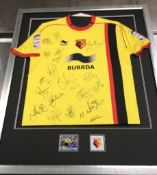 Watford Football Shirt Signed By Full Team