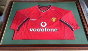 Manchester United Nicky Butt Signed Framed Shirt