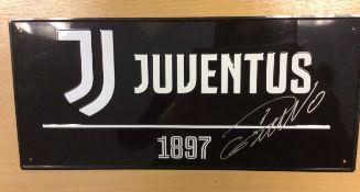 Cristiano Ronaldo Juventus Signed Street Plaque