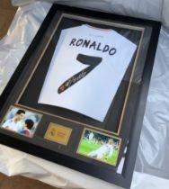 Cristiano Ronaldo Framed Signed Real Madrid Shirt