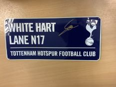 Tottenham Hotspur's Street Sign Plaque Signed By Son Heung Min