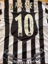 Newcastle United John Barnes Signed Replica Shirt