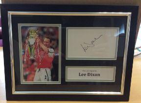 Lee Dixon Signed Framed Photo