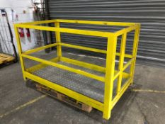 ForkLift Safety Cage Side Gate Yellow