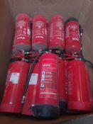 Joblot Used Fire Extinguishers - 19 PCS - P262