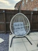 1x Hartington Florence Collection Hanging Chair RRP £280. Contents Appear Clean. (Unit Has Fixings