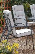 (2O) 6x Rowly Reclining Garden Chair With 6x Cushions RRP £70 Each.