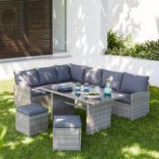 1x Matara Corner Sofa Dining Set RRP £645. Contents Appear As New. Clean, In Original Packaging Wi