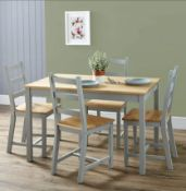 1x Mortimer Pine Dining Set With 4x Chairs RRP £100. Unit Appears Unused, As New. Contents In Ori
