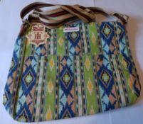 2 x HT Fashion London Ladies 4-Colour Skull Crossbody Shoulder Bag (GREEN)