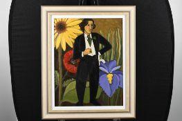 "Oscar"" Original Oil on Canvas by American Artist Marsha Hammel"