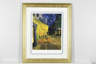"""Numbered Limited Edition Vincent van Gogh """"Cafe Terrace on the Place du Forum, Arles"""""""