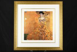 "Gustav Klimt ""Woman In Gold"" Limited Edition 22ct Gold Leaf Silk Screen."