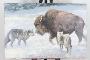 Original Painting by the Late English Artist Joel Kirk.