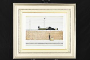 """L.S. Lowry Limited Edition Titled """"Man Lying on a Wall"""""""