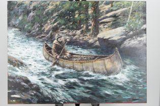Rare Original Painting by the Late English Artist Joel Kirk.